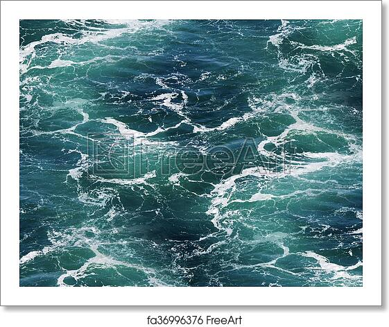 Free Art Print Of Seawater With Sea Foam As Seamless Background