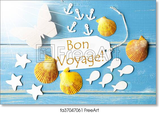 Free art print of sunny summer greeting card with bon voyage means free art print of sunny summer greeting card with bon voyage means good trip m4hsunfo
