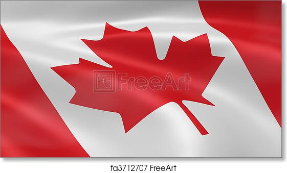 Free Art Print Of Canadian Flag In The Wind Canadian Flag In The