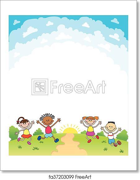 free art print of kids diploma certificate background design