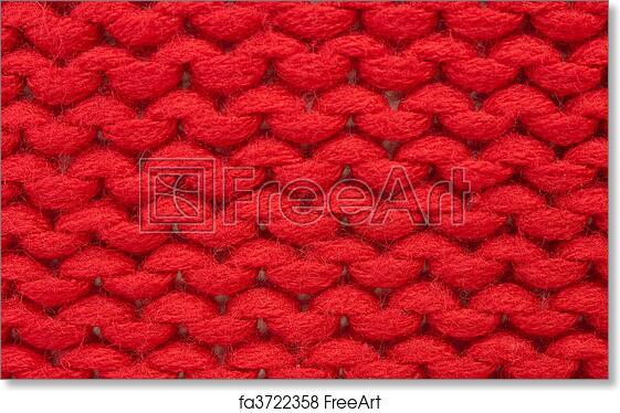 Free Art Print Of Plain Knitting Sample Of Plain Knitting Stitch