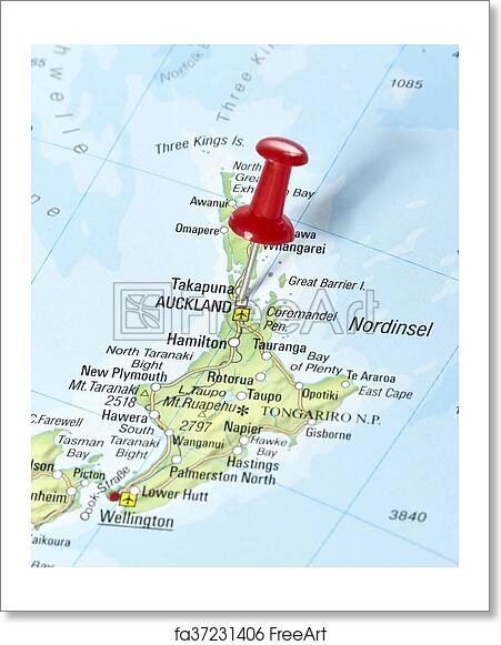Printable Map New Zealand.Free Art Print Of Map Of New Zealand
