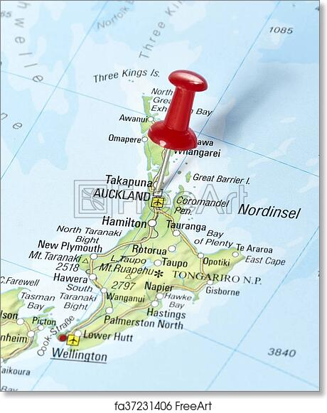 picture relating to Printable Map of New Zealand titled Cost-free artwork print of Map of Contemporary Zealand