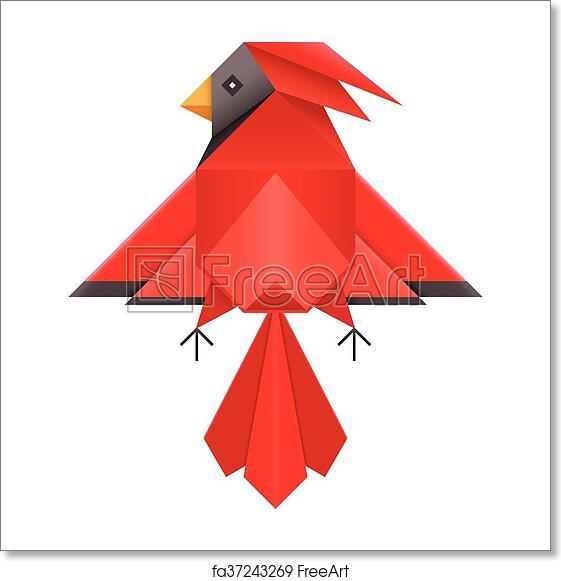 Free Art Print Of Red Cardinal Geometric Polygonal Icon Abstract