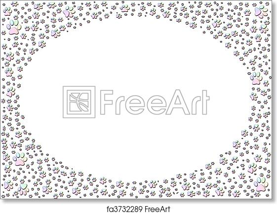 Free Art Print Of Dog Or Cat Paw Print Paw Prints Frame Colorful