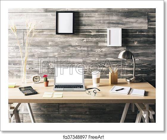 Free Art Print Of Creative Office Desk Creative Wooden Desktop With