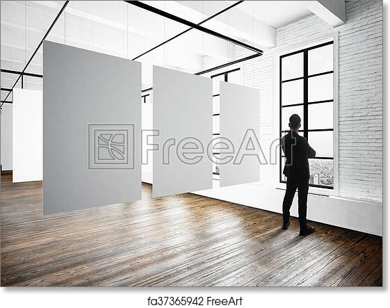 Free art print of Businessman Modern museum expo loft interior.Open ...
