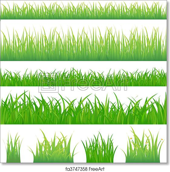 picture relating to Grass Printable known as Totally free artwork print of 4 backgrounds of eco-friendly gr and 4 tufts of gr