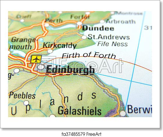 Free art print of Map of Edinburgh. Map of Edinburgh, Scotland ...