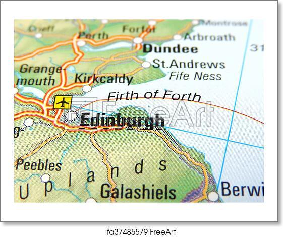 Map Edinburgh.Free Art Print Of Map Of Edinburgh