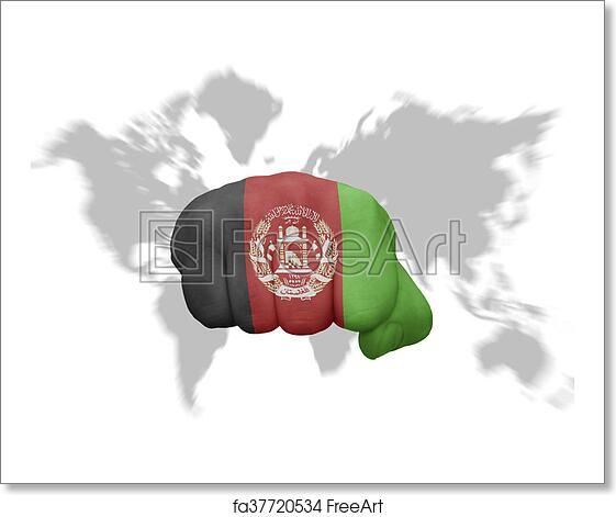 Free art print of Fist with the national flag of afghanistan on a ...