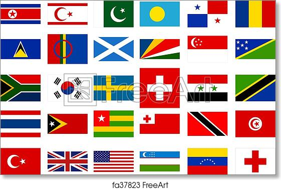 Free Art Print Of World Flags Collection 3 Freeart