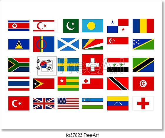 free art print of world flags collection 3 freeart fa37823
