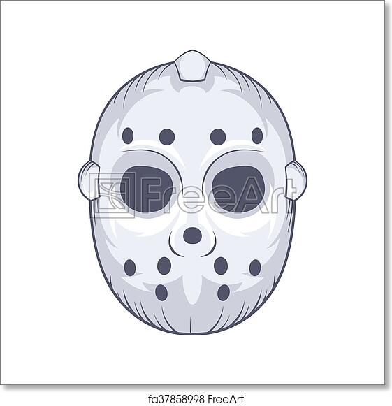 Free Art Print Of Hockey Goalie Mask Icon Cartoon Style Hockey