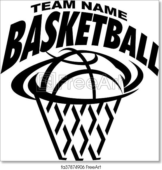 Free Art Print Of Basketball Basketball Team Design With Ball And