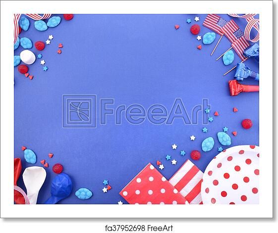 Free Art Print Of Happy Fourth Of July Party Background Happy