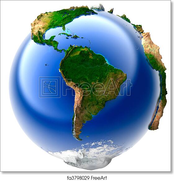 Free art print of miniature real earth 3d model of the globe with free art print of miniature real earth gumiabroncs Image collections