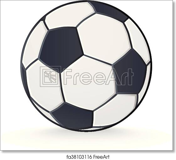 graphic regarding Free Printable Soccer Ball called No cost artwork print of Football ball isolated upon white.