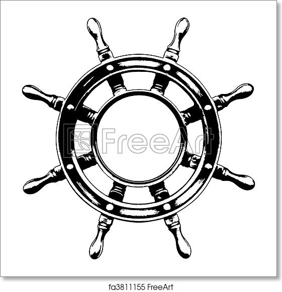 free art print of ship steering wheel vector ship steering wheel made in vector freeart fa3811155 free art print of ship steering wheel vector