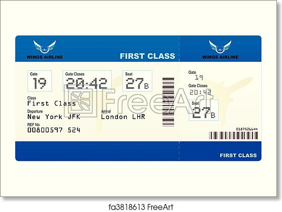 picture regarding Printable Plane Ticket named Absolutely free artwork print of Aircraft ticket