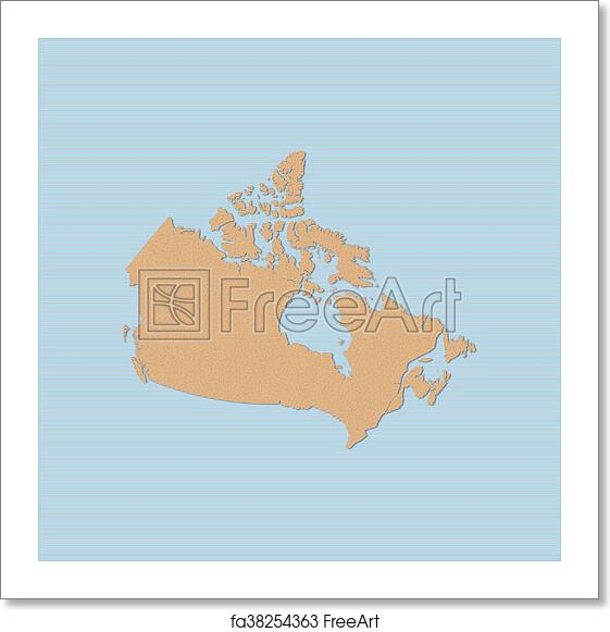 Map Of Canada Free.Free Art Print Of Map Canada