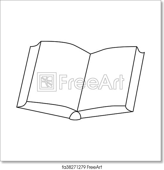 Free Art Print Of Open Thick Book Icon Outline Style Open Thick