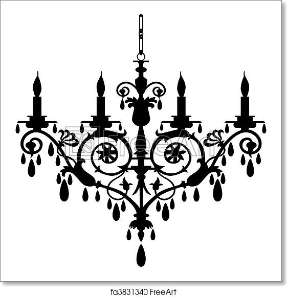 Free Art Print Of Chandelier Vector Ilration