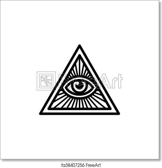 Free Art Print Of All Seeing Eye Symbol Masonic Symbol All Seeing