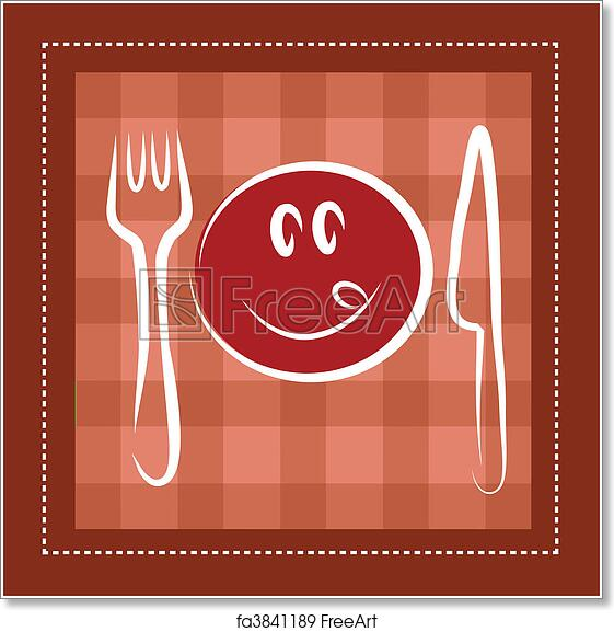 photograph regarding Free Printable Knife Templates referred to as Cost-free artwork print of Content smiley encounter with fork and knife