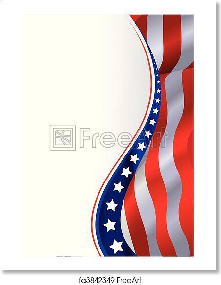 free art print of american flag background an american flag