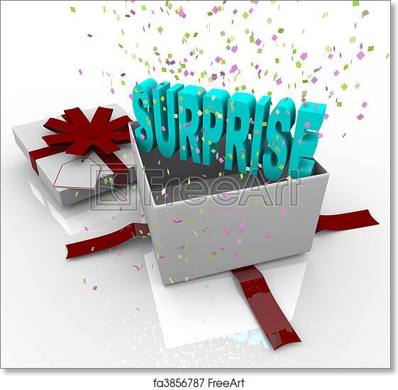 Free Art Print Of Surprise Present Happy Birthday Gift Box A