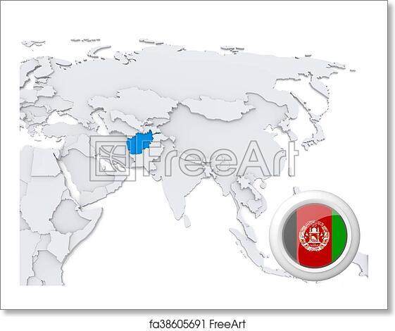 Free art print of Afghanistan on map of Asia Afghanistan On Map on israel on map, yemen on map, iran on map, lebanon map, sudan on map, egypt on map, himalayas on map, congo on map, malaysia on map, north korea on map, mongolia on map, bangladesh on map, bhutan on map, indonesia on map, pakistan on map, thailand on map, nepal on map, armenia on map, the arabian sea on map, kuwait on map,