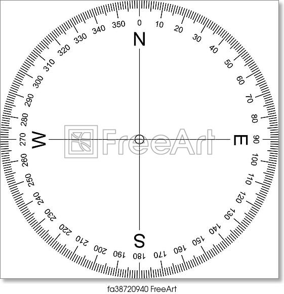 picture regarding Free Printable Protractor referred to as Free of charge artwork print of Comp Protractor