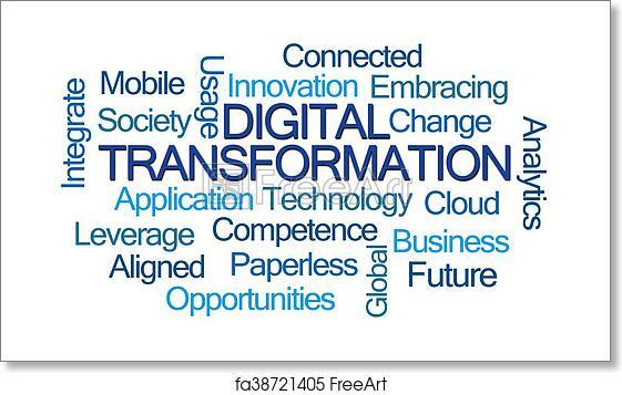 Free art print of Digital Transformation Word Cloud