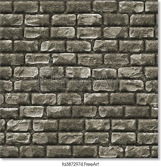 . Free art print of Seamless Stone Brick Wall