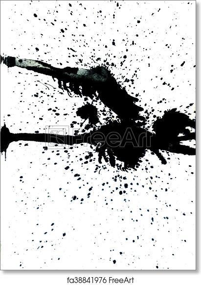 eb3cb5cd7ea09 Free art print of Black Paint Drips. Grunge background with paint dripping  of black color.   FreeArt   fa38841976