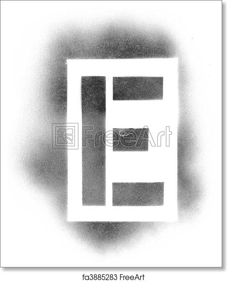 photograph regarding Printable Stencils for Spray Painting named Free of charge artwork print of Stencil letters within spray paint