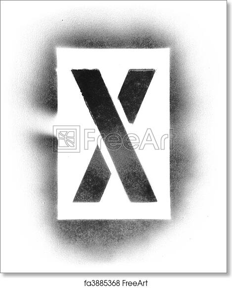 Free Art Print Of Stencil Letters In Spray Paint