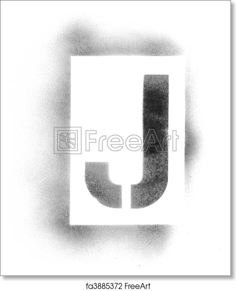 photograph about Printable Spray Paint Stencils known as Cost-free artwork print of Stencil letters inside of spray paint