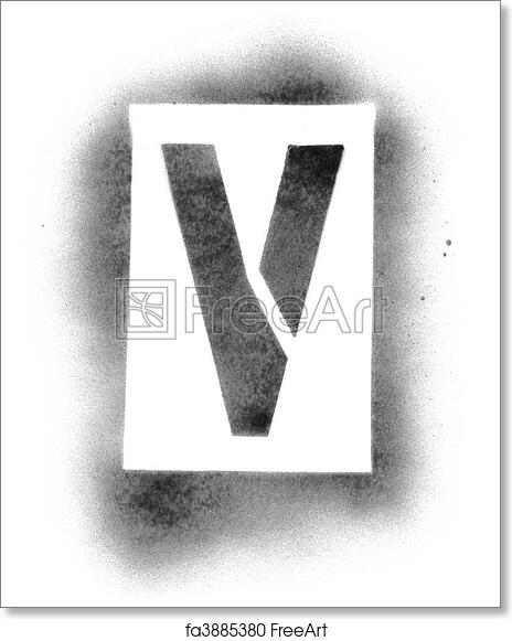 photograph about Printable Stencils for Spray Painting referred to as Absolutely free artwork print of Stencil letters inside spray paint