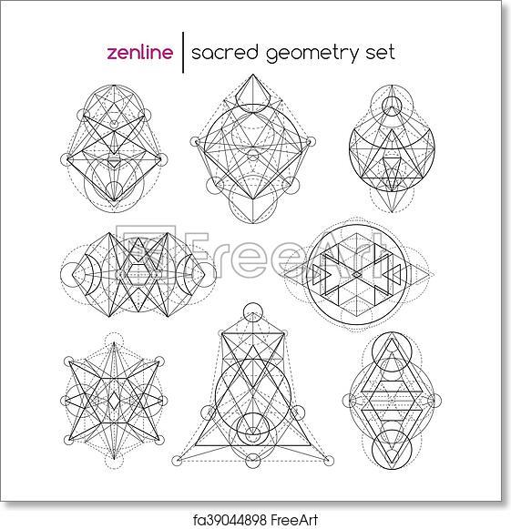 Free art print of Sacred geometry set