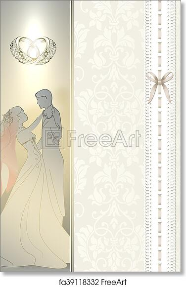 Free Art Print Of Wedding Invitation Card Design