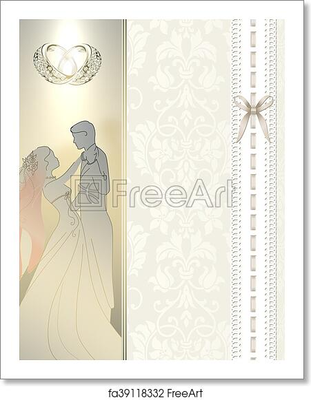 Free Art Print Of Wedding Invitation Card Design Decorative And