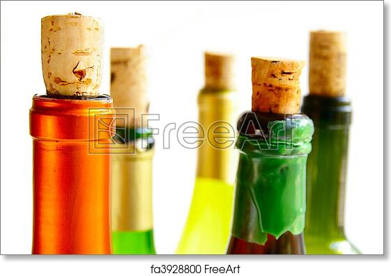 cd650db7f Free art print of Top of wine bottles with corks
