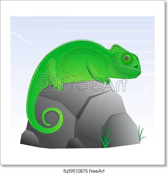 Free Art Print Of Chameleon Lizard Cartoon Chameleon Lizard Cartoon Character Cute And Texturized Freeart Fa39510875