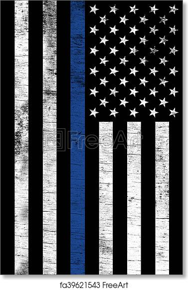 Free art print of Police Law Enforcemtnt Support Vertical Textured Flag. A  police law enforcement support flag shown vertically with a grunge texture. c84ee2cf60f