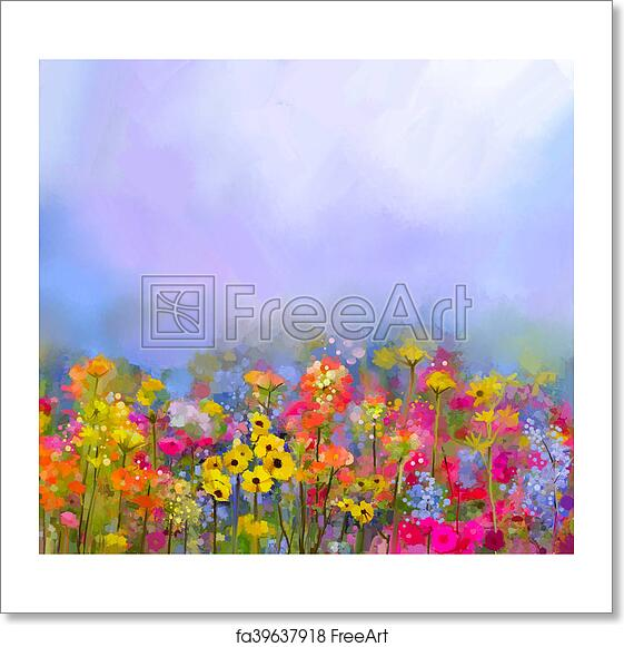 Free art print of abstract art oil painting of summer spring flower free art print of abstract art oil painting of summer spring flower mightylinksfo