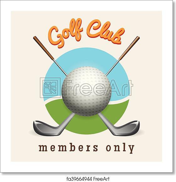 Free Art Print Of Golf Club Emblem Golf Logo Design Template Golf Club Emblem Vector Illustration Freeart Fa39664944