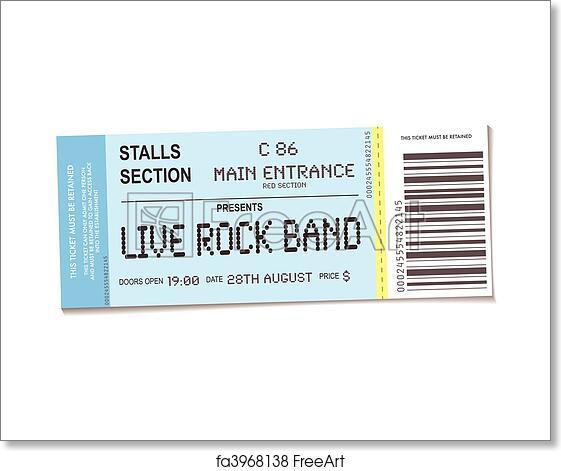 free art print of concert ticket sample concert ticket with