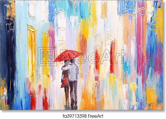 """/""""Walking in the Rain/"""" print"""
